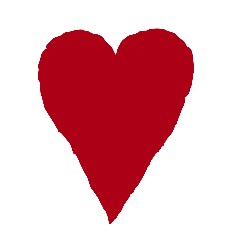 Drawn red heart clipart. Free stock photo illustration