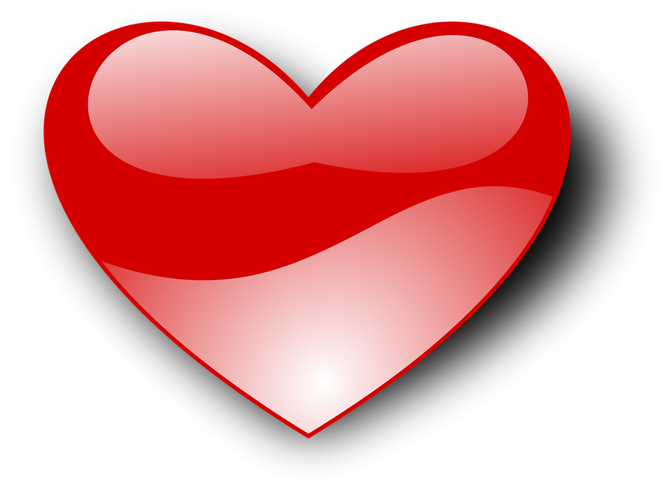 Free stock photo illustration. Drawn red heart clipart