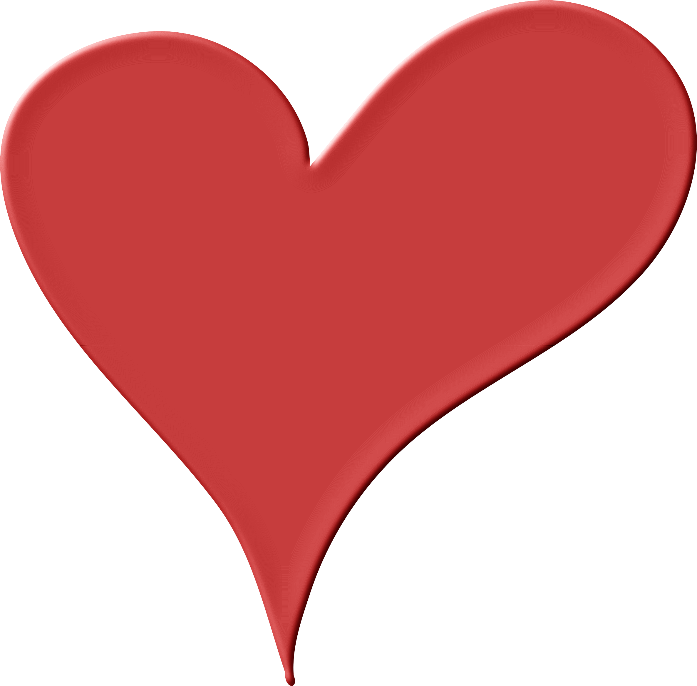 Drawn red heart clipart clip transparent Clipart - Heart in Red clip transparent
