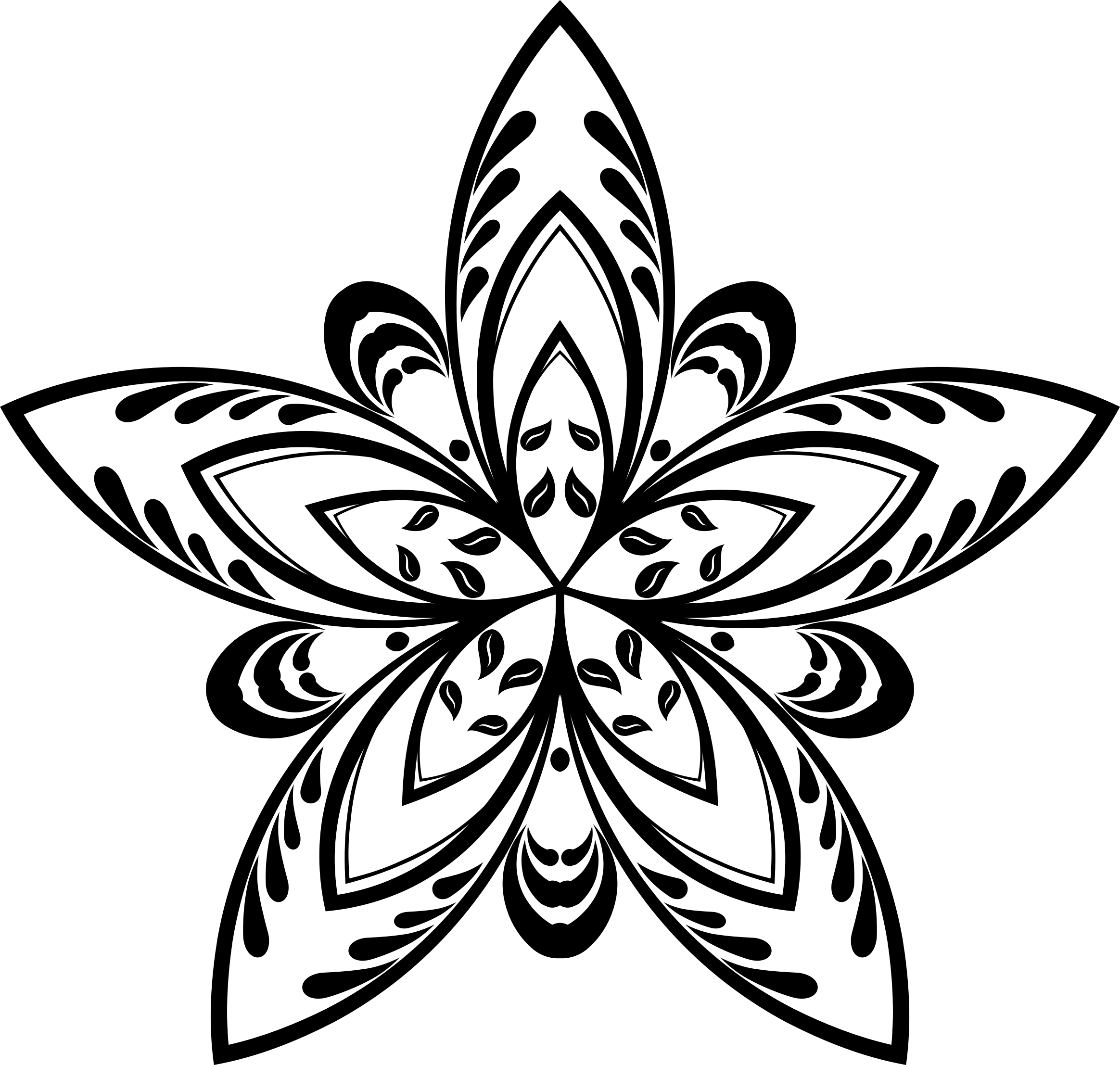 Drawn star clipart png picture free stock Flower Star Silhouette Icons PNG - Free PNG and Icons Downloads picture free stock
