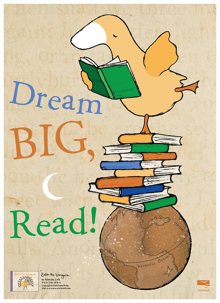Dream big read clipart