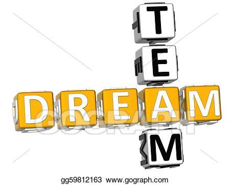 Dream team clipart png black and white library Stock Illustration - 3d dream team crossword. Clipart Illustrations ... png black and white library