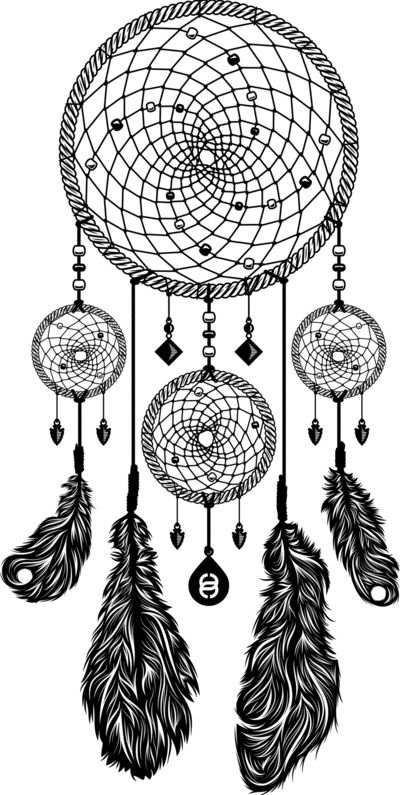 Simple dream catcher clipart black and white freeuse library Dreamcatcher (Black & White) Art Print by 83 Drops | Society6 ... freeuse library