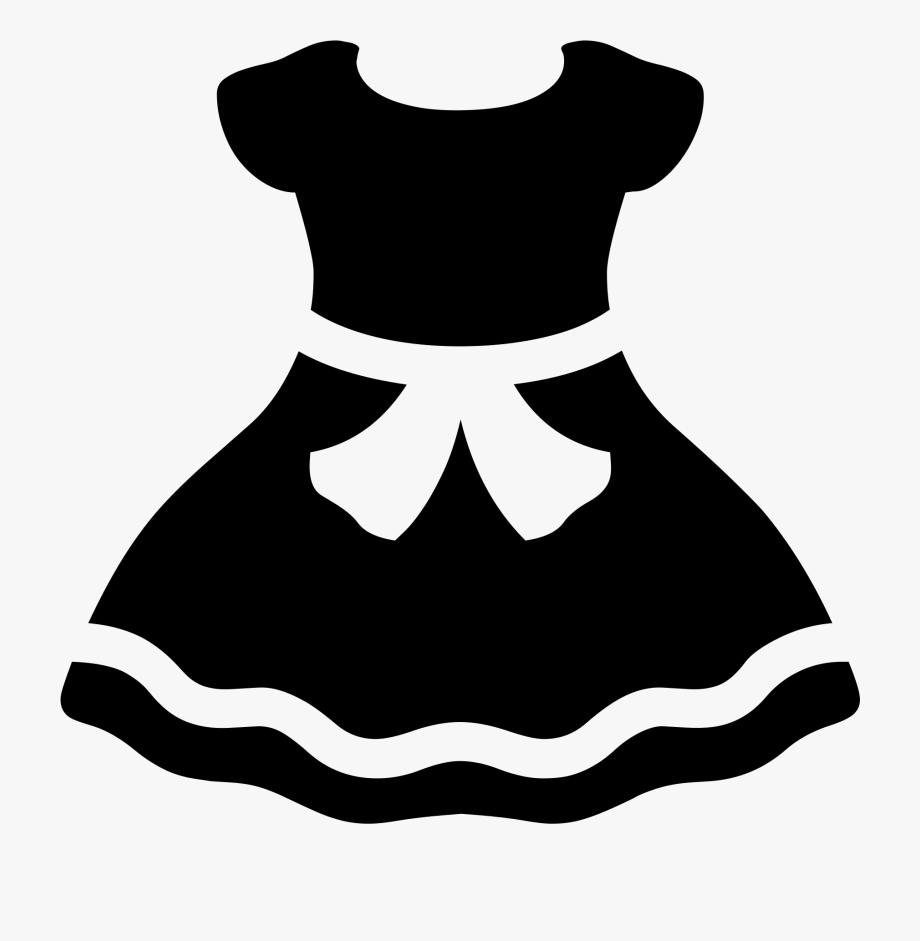 Dress cartoon clipart clip art Emoji Clipart Clothes - Dress Emoji Black And White , Transparent ... clip art