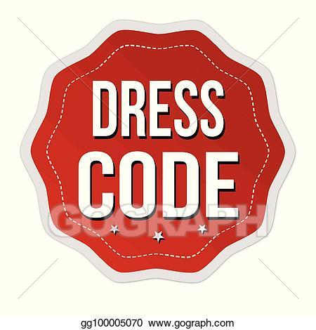 Dress code clipart transparent stock EPS Illustration - Dress code label or sticker. Vector Clipart ... transparent stock