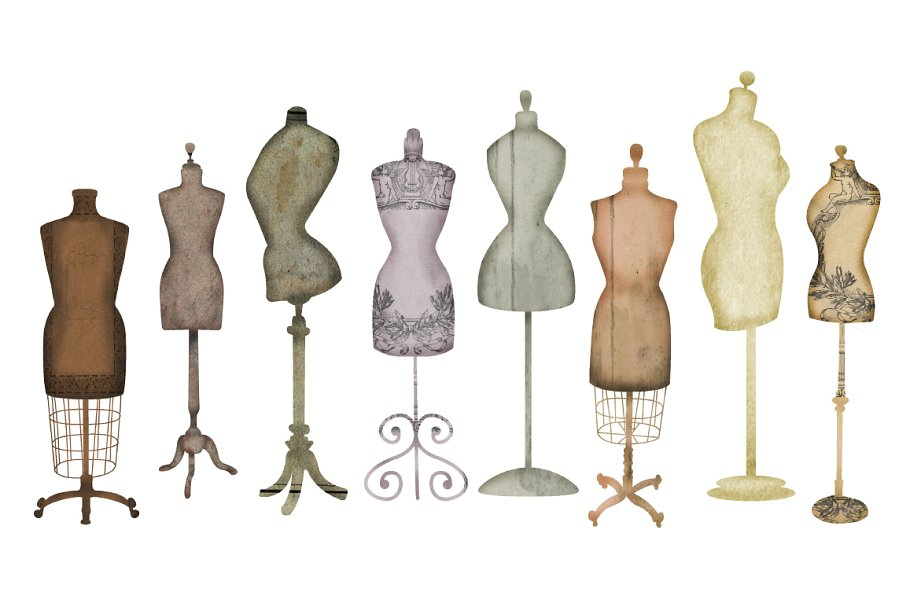 Dress form clipart jpg library Vintage Dress Form Clip Art jpg library