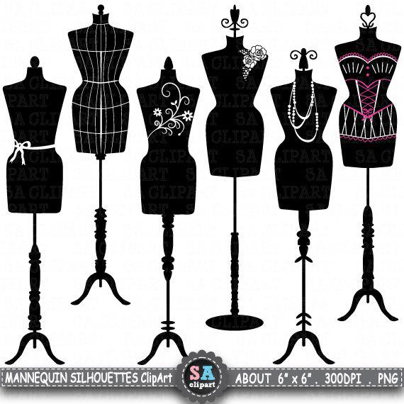 Dress form silhouette clipart clip transparent Mannequin Silhouette ClipArt \