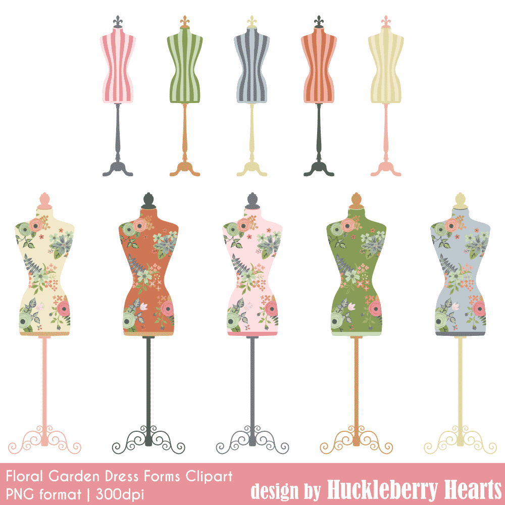 Dress form clipart png transparent Rose Garden Dress Forms Clipart png transparent