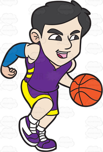 Dribbling clipart clip transparent download Dribbling Basketball Clipart | Free Images at Clker.com - vector ... clip transparent download
