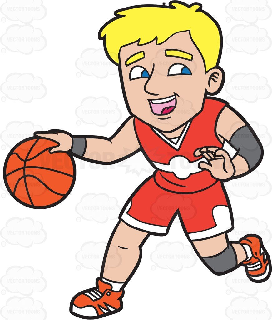 Dribbling clipart graphic transparent A Happy Male Basketball Player Dribbling A Ball #cartoon #clipart ... graphic transparent