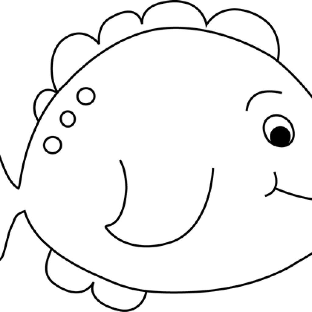 Free clipart fish outline picture free Fish Clipart Black And White pineapple clipart hatenylo.com picture free