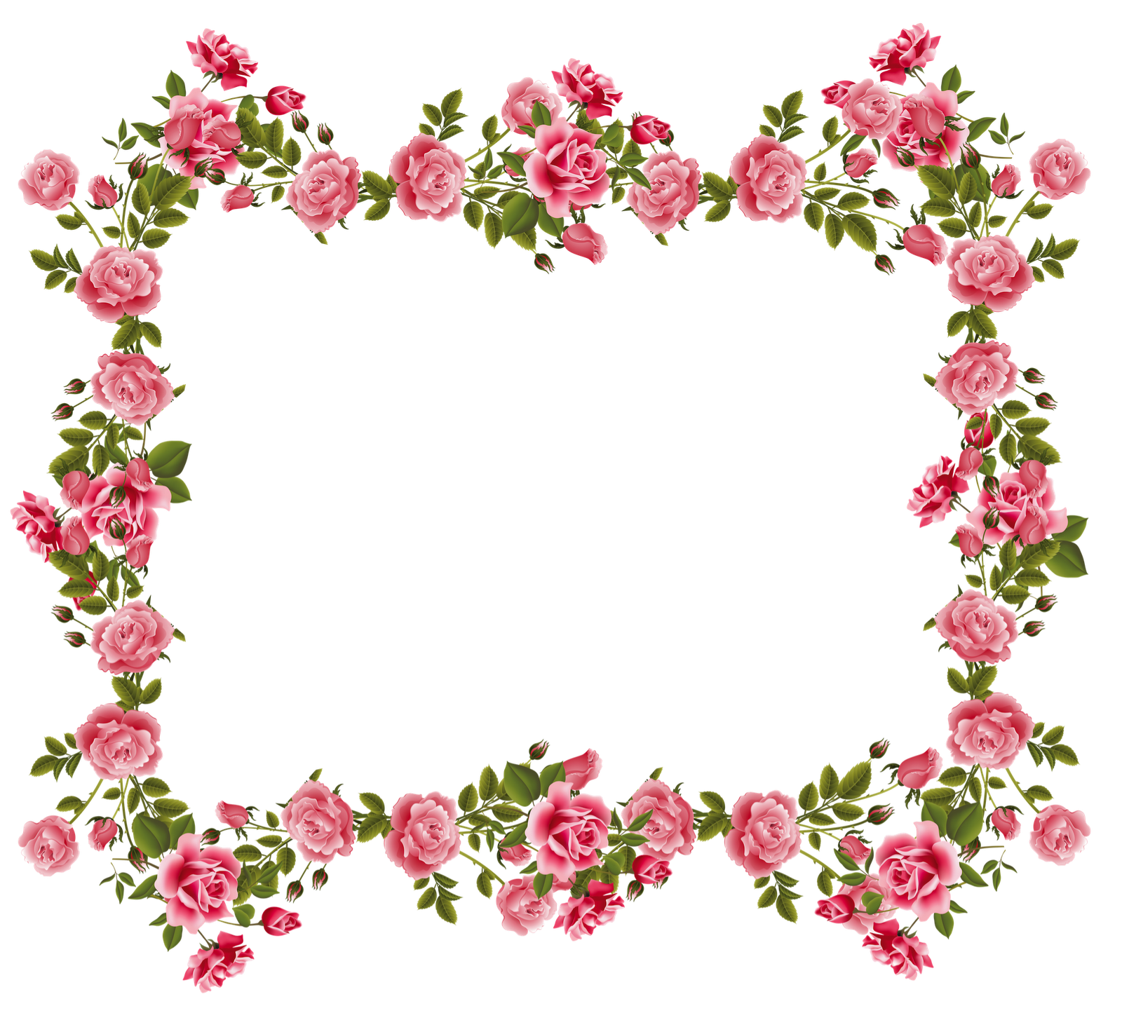 Pink snowflake border clipart picture library stock Rose Borders And Frames | roses scrapbooking frames and journaling ... picture library stock