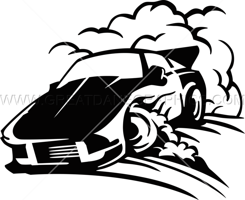 Drift car clipart black and white svg black and white Car Drifting | Production Ready Artwork for T-Shirt Printing svg black and white