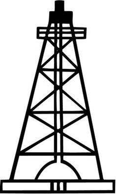 Oil drilling clipart svg black and white download How To Draw An Oil Rig - ClipArt Best | Oil rigs | Oil rig, Oilfield ... svg black and white download