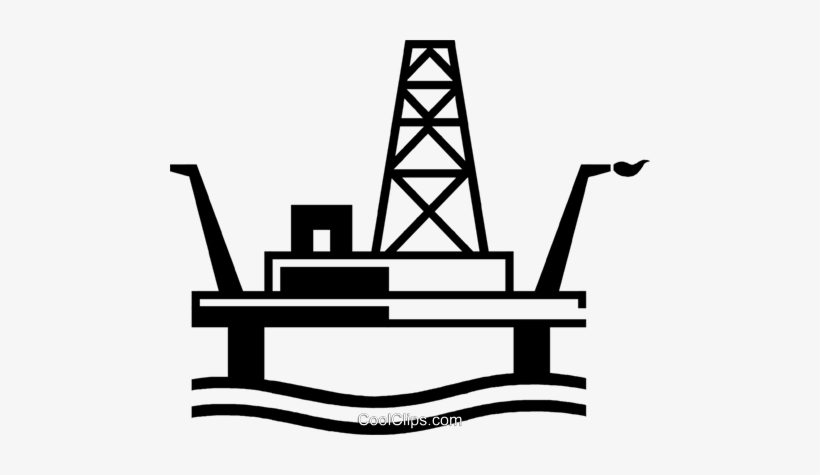 Oil drilling clipart vector Offshore Drilling Platform Royalty Free Vector Clip - Offshore Oil ... vector