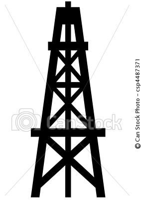 Drilling rigs clipart vector freeuse oil derrick...for my honey =) | JT Ironworks | Oilfield life ... vector freeuse