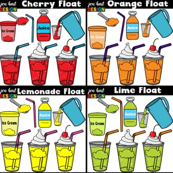 Drink clipart snack pack clip transparent library Ice Cream Float Clipart ~BUNDLE (Classroom Snack Packs 1-8) clip transparent library