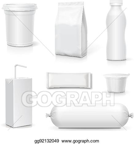 Drink clipart snack pack picture royalty free library Vector Stock - Food and drink blank packaging set. snack pack ... picture royalty free library