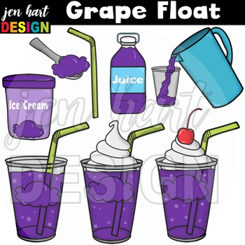 Drink clipart snack pack image freeuse download Ice Cream Float Clipart ~Grape (Classroom Snack Pack 7) image freeuse download