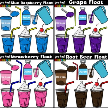 Drink clipart snack pack graphic free library Ice Cream Float Clipart ~BUNDLE (Classroom Snack Packs 1-8) graphic free library