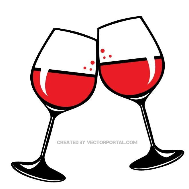 Wine glass clipart copyright free clip stock Wine time\