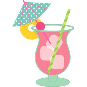 Drink umbrella clipart jpg free Umbrella drink - fun in the sun | silhouette files i have ... jpg free