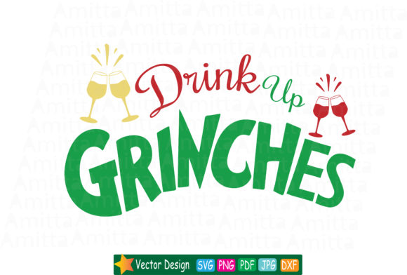 Drink up grinches clipart graphic library download Drink up Grinches SVG graphic library download