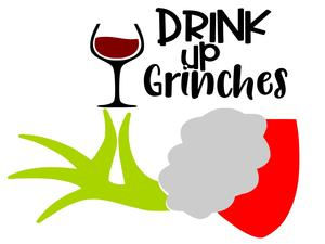 Drink up grinches clipart graphic freeuse stock Drink up Grinches - Adhesive Vinyl Stencil graphic freeuse stock