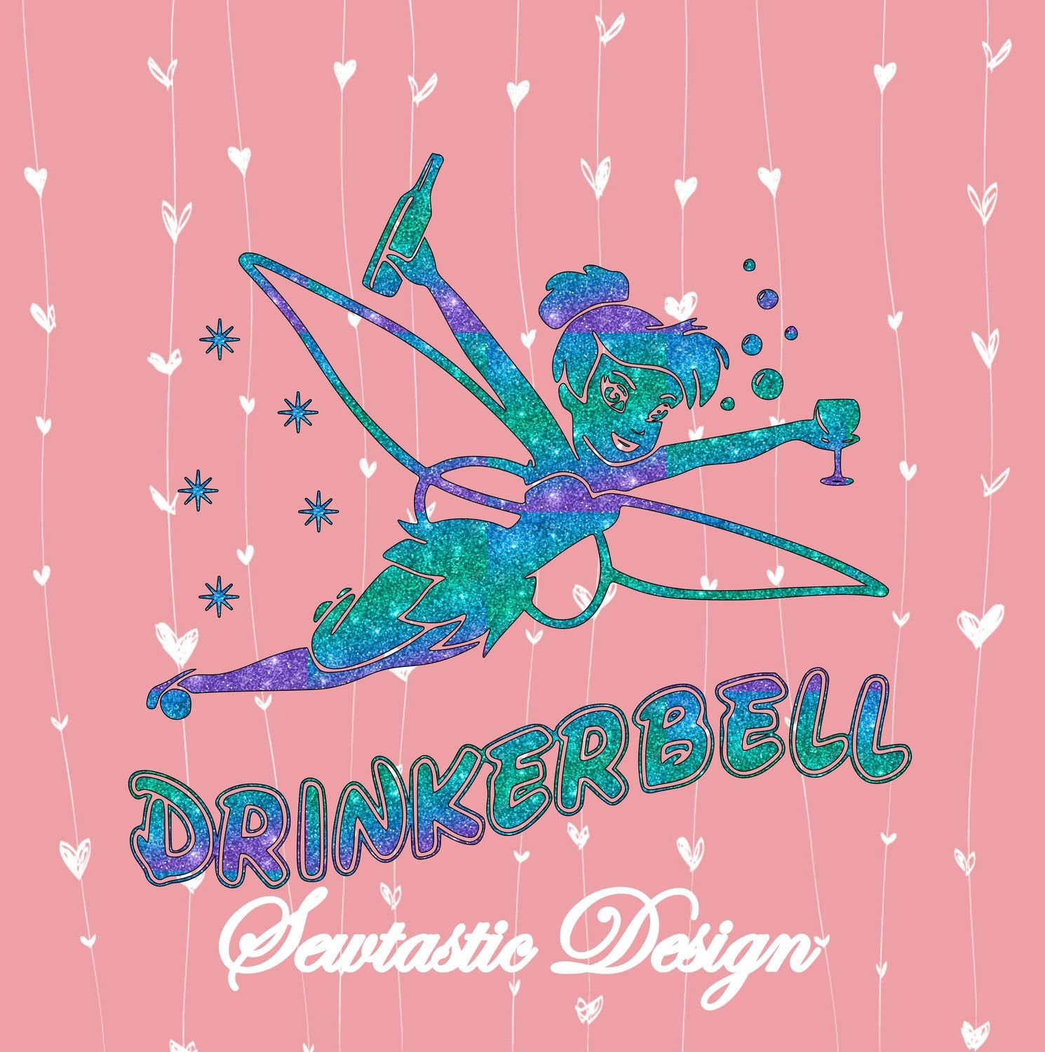 Drinkerbell clipart image free library DrinkerBell SVG, Drinker Bell SVG, Tinkerbell SVG, Disney SVG, Cut File,  Iron On, Decal, Cricut, Silhouette, ScanNCut & Many More image free library