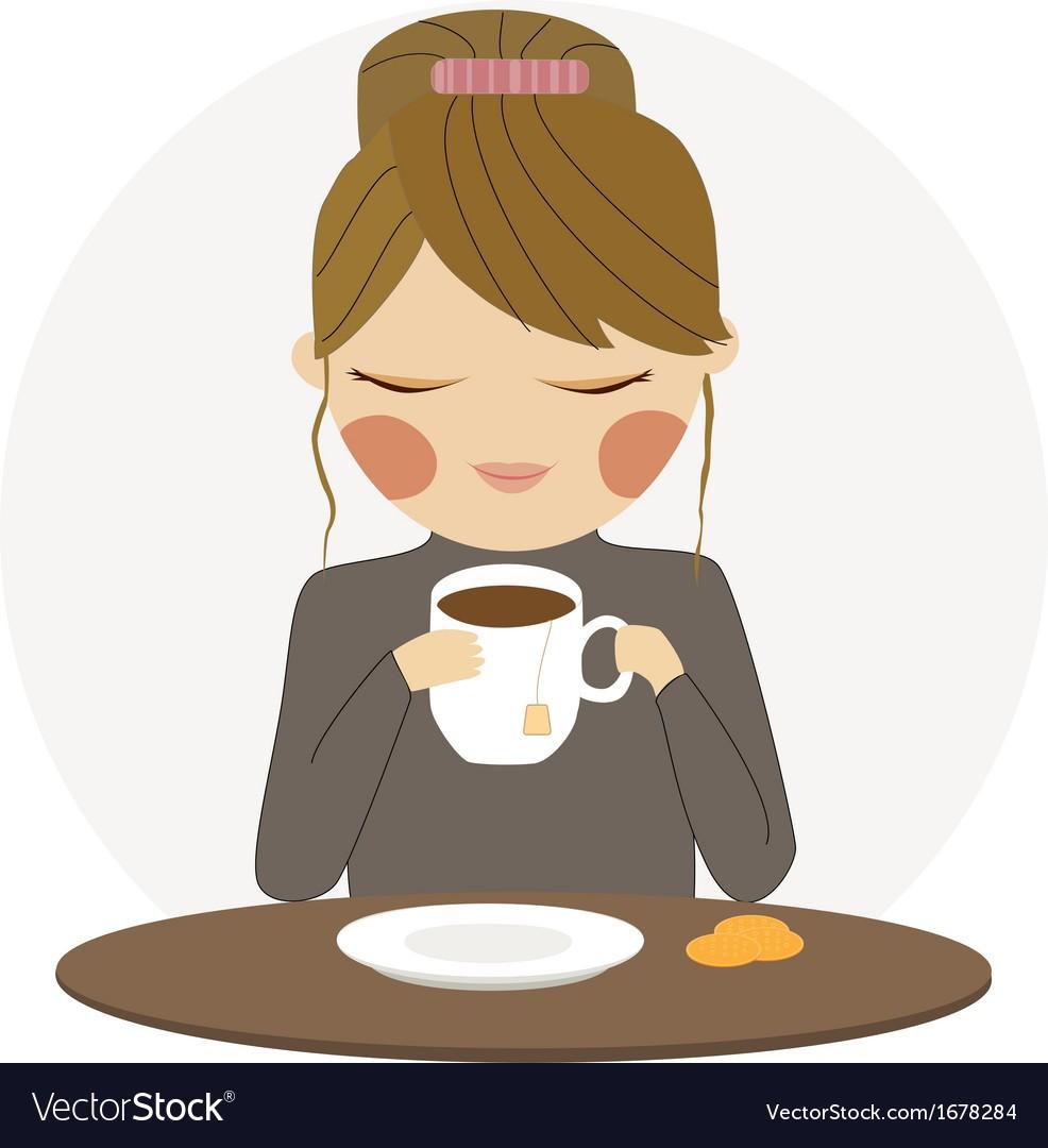 Drinking coffee clipart jpg transparent stock At Clipart Girl Drinking Coffee Drinks Tea Vector 1678284   Clip Art jpg transparent stock