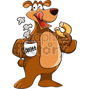 Drinking coffee images clipart vector free library cartoon bear drinking coffee clipart. Royalty-free clipart # 407118 vector free library
