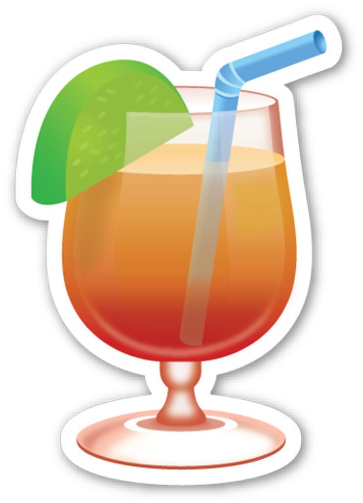 Drinking emoji clipart vector freeuse Cocktail Emoji and Drink Emoji Recipes | PEOPLE.com vector freeuse