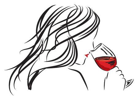 Drinking wine clipart black and white stock Woman With Wine Clipart & Free Clip Art Images #32114 - Clipartimage.com black and white stock