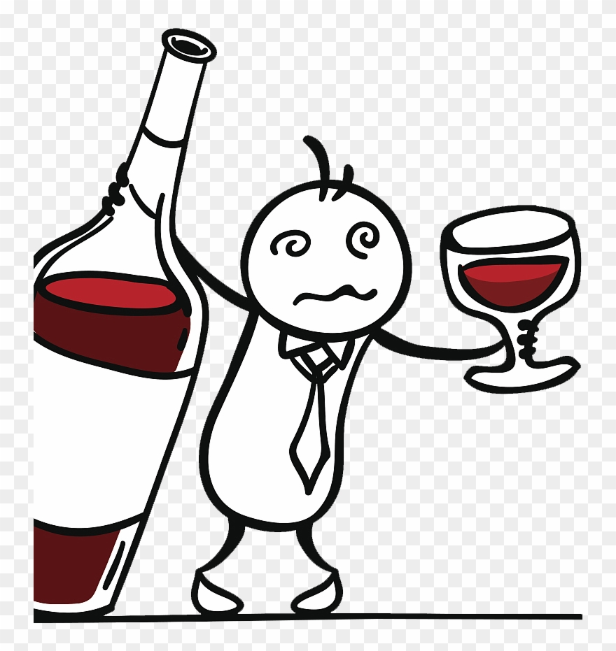 Drinking wine clipart clip Red Wine Drawing - Drunk Man Drinking Red Wine Clipart (#4029621 ... clip