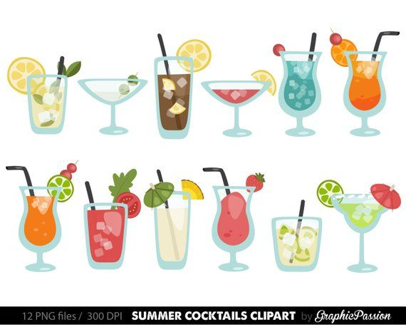 Drinks clipart images picture royalty free download Summer Cocktails Clipart Cocktail Clip Art Summer Clip art Drinks ... picture royalty free download