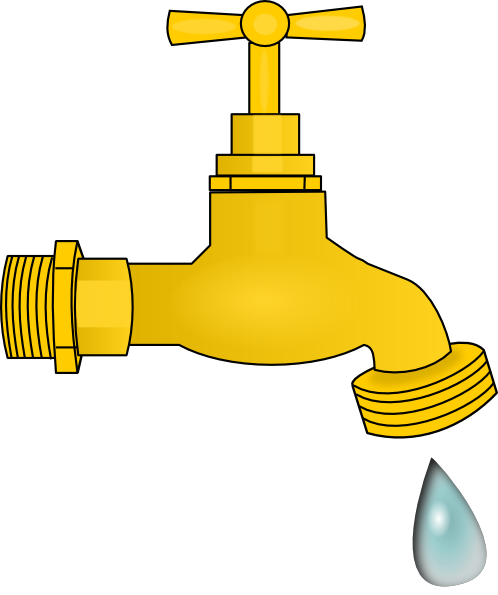 Dripping faucet clipart vector free Dripping Faucet Clip Art at Clker.com - vector clip art online ... vector free