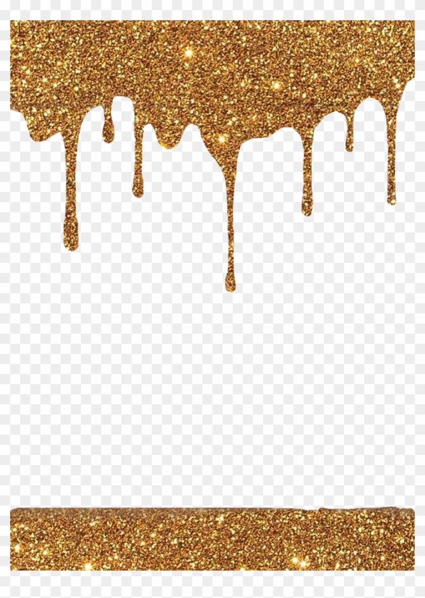 Dripping gold clipart graphic freeuse library frame #overlay #gold #glitter #sparkle #dripping #drips, HD Png ... graphic freeuse library