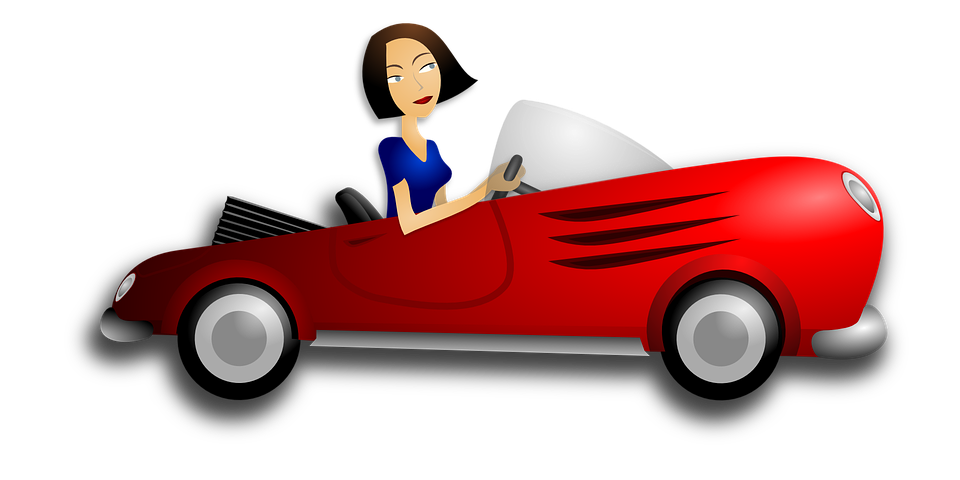 Drive a car clipart.  collection of woman