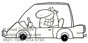 Drive a car clipart black and white clip art transparent download A Smiling Man Driving a Car In Black and White Clipart Image clip art transparent download