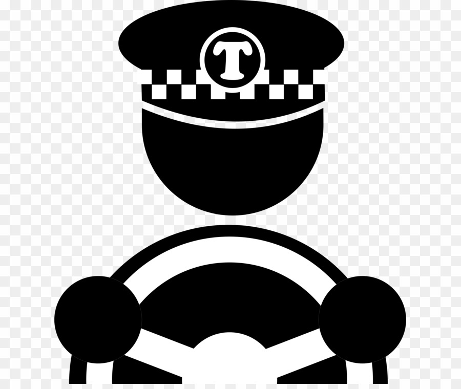 Driver icon clipart black and white library Taxi Driver Icon PNG Taxi Computer Icons Clipart download - 687 ... black and white library