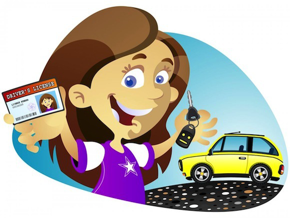 Driver license clipart picture black and white library Day 40: Getting your driver\'s license. | C | Driving instructor ... picture black and white library