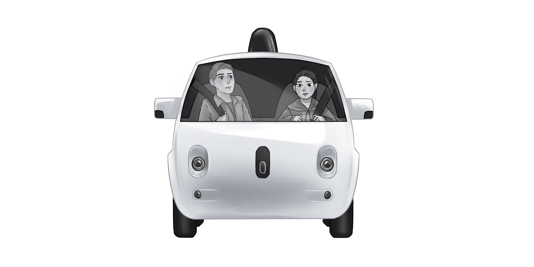 Driving in a car clipart clipart black and white Self-driving car illustration PNG Clipart - Download free images in PNG clipart black and white