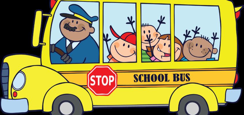Phantom lake elementary bus. Driving to school clipart