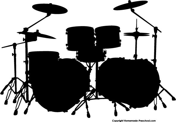 Drum set clipart free picture black and white Free Silhouette Clipart drum set   Cricut   Drums art, Silhouette ... picture black and white