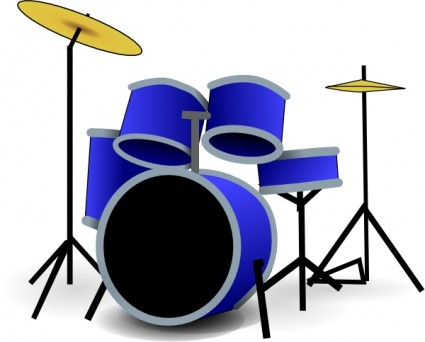 Drum set pictures clipart black and white library Free Drum Set Art, Download Free Clip Art, Free Clip Art on Clipart ... black and white library