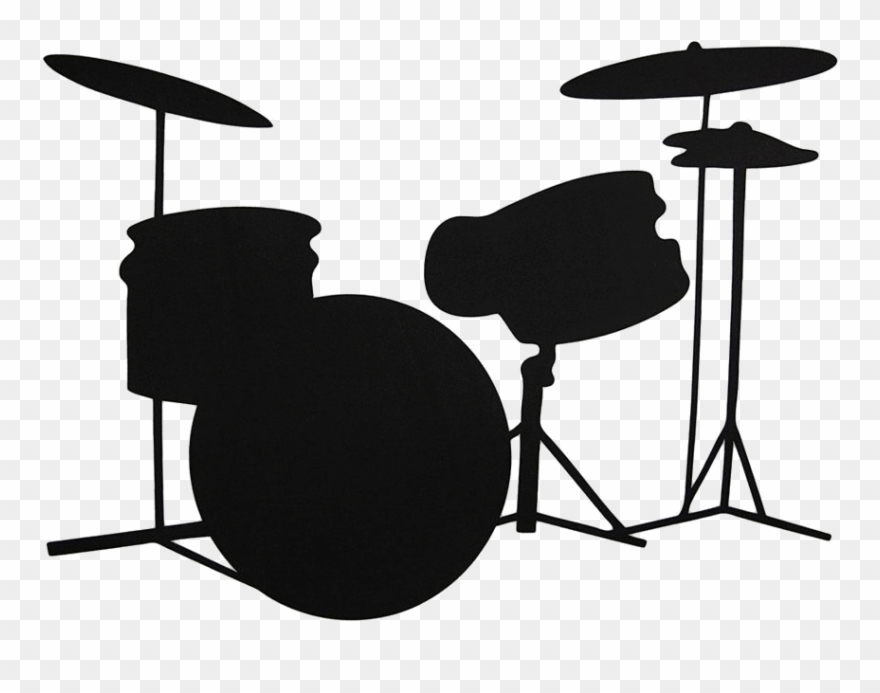 Drum set pictures clipart freeuse stock Silhouette Clipart Drum - Drum Set Clipart Silhouette - Png Download ... freeuse stock