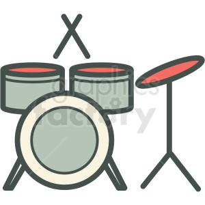 Drum set pictures clipart clip transparent download drum set vector icon image . Royalty-free icon # 406575 clip transparent download
