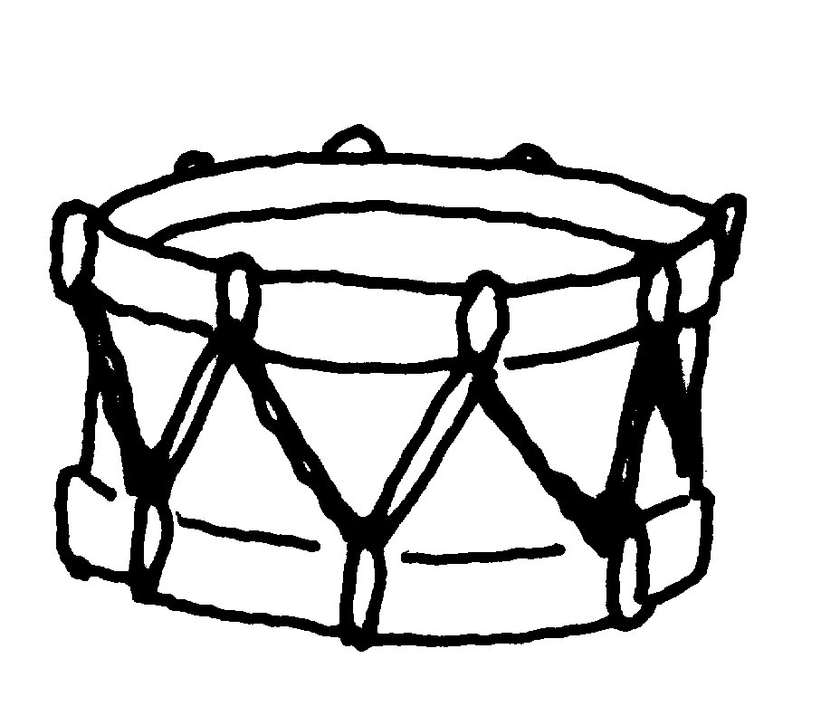 Drumming on buckets black and white clipart clipart black and white Bucket Drums Cliparts - Cliparts Zone clipart black and white