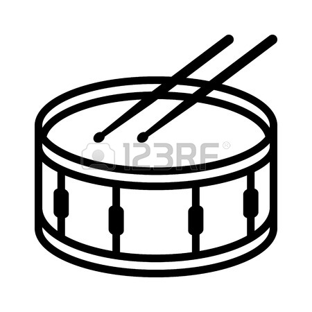 Kick drum clipart black and white vector free Drums Clipart Black And White | Free download best Drums Clipart ... vector free