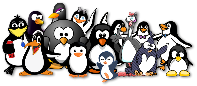 Drunk penguin clipart png black and white stock Free Clipart: Penguins just love OpenClipart! | Moini png black and white stock